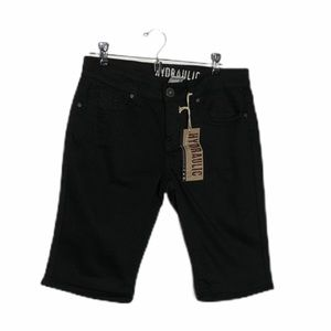 NWT Hydraulic Black Roll Up Or Long Shorts